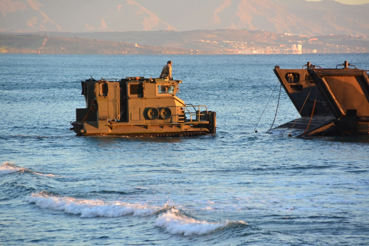 Gibraltar - Operation Sea Snake sees tanks and Royal Marines land on Eastern Beach