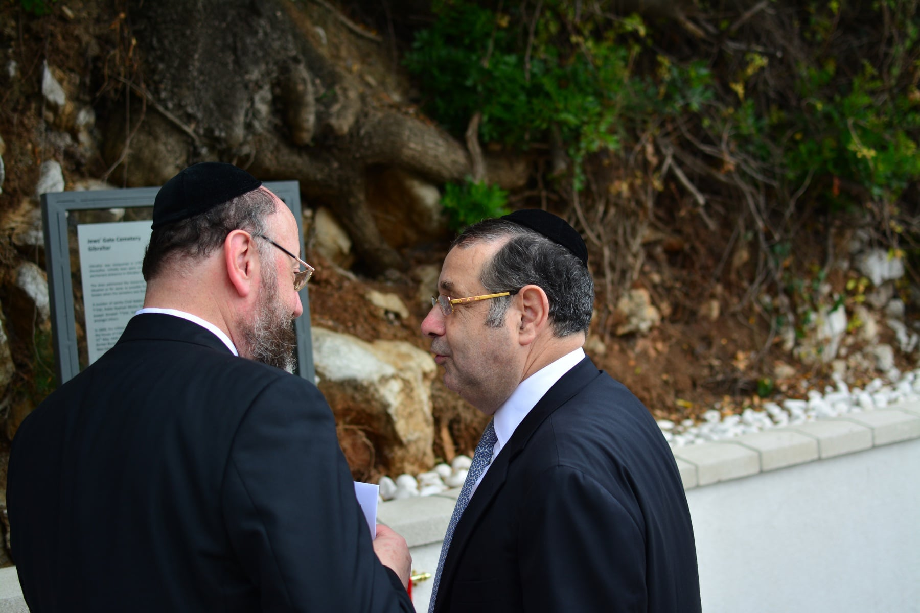 Chief Rabbi of Commonwealth at Jews Gate Cemetery opening