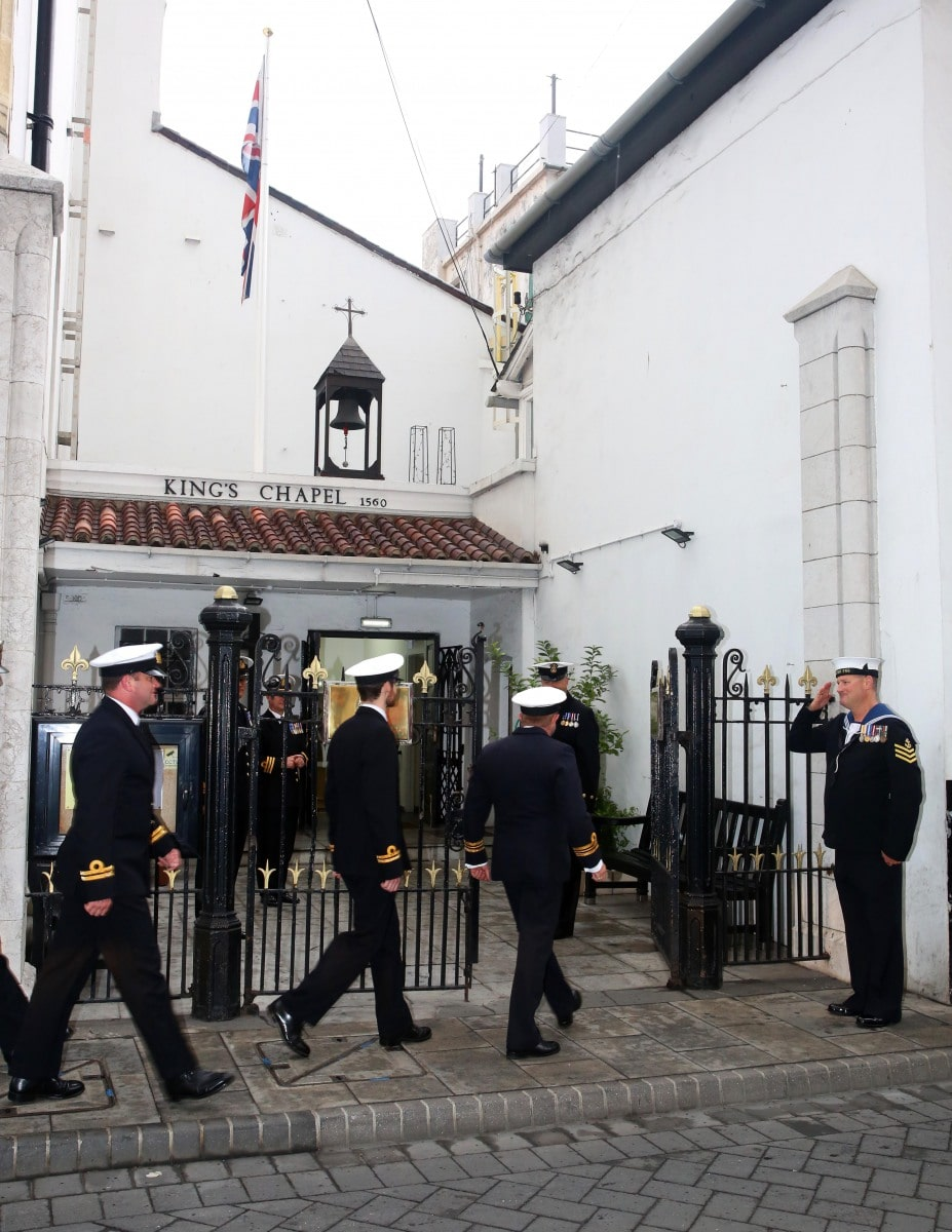 The Anniversary of The Battle Of Trafalgar, An act of remembrance held within The Trafalgar Cemetery Gibraltar, Sunday 18th October 2015.VIP's included Interim Governor, Chief Minister, 2nd Sea Lord and CBF. A religious cervice was held at the King's Chapel and afterwards the remembrance moved to the cemetery.