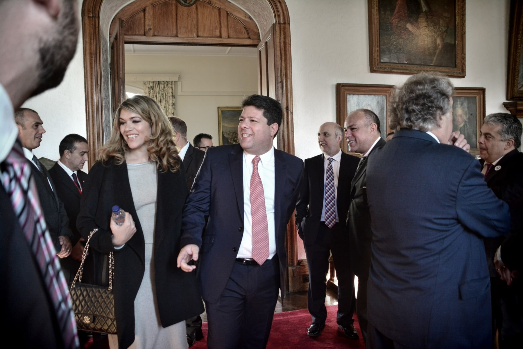 Gibraltar - 27th November 2015 - Fabian Picardo led his GSLP/LiberalAlliance Ministers to the Convent earlier this morning where there were sworn into Government by Acting Governor Alison Macmilan. He and his team then headed to Number Six where they held their first press call as the newly formed Government following a landslide victory.