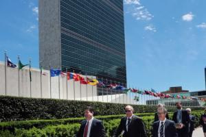 160613 Ministro Principal y delegación gibraltareña en el Comité de los 24 de la ONU