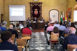 170727 Visita del Ministro Principal al Alcalde de San Roque, Juan Carlos Ruiz Boix