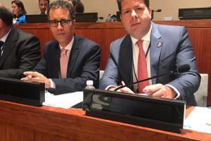 171004 Ministro Principal y representantes de Gibraltar en Cuarta Comisión de la ONU