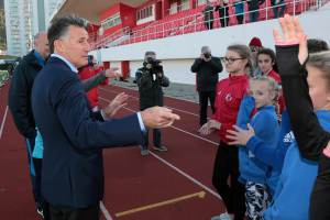 180122 Visita Sir Sebastian Coe, Presidente World Athletics