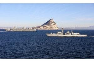 180209 Llegada a Gibraltar del portaaviones HMS Queen Elizabeth