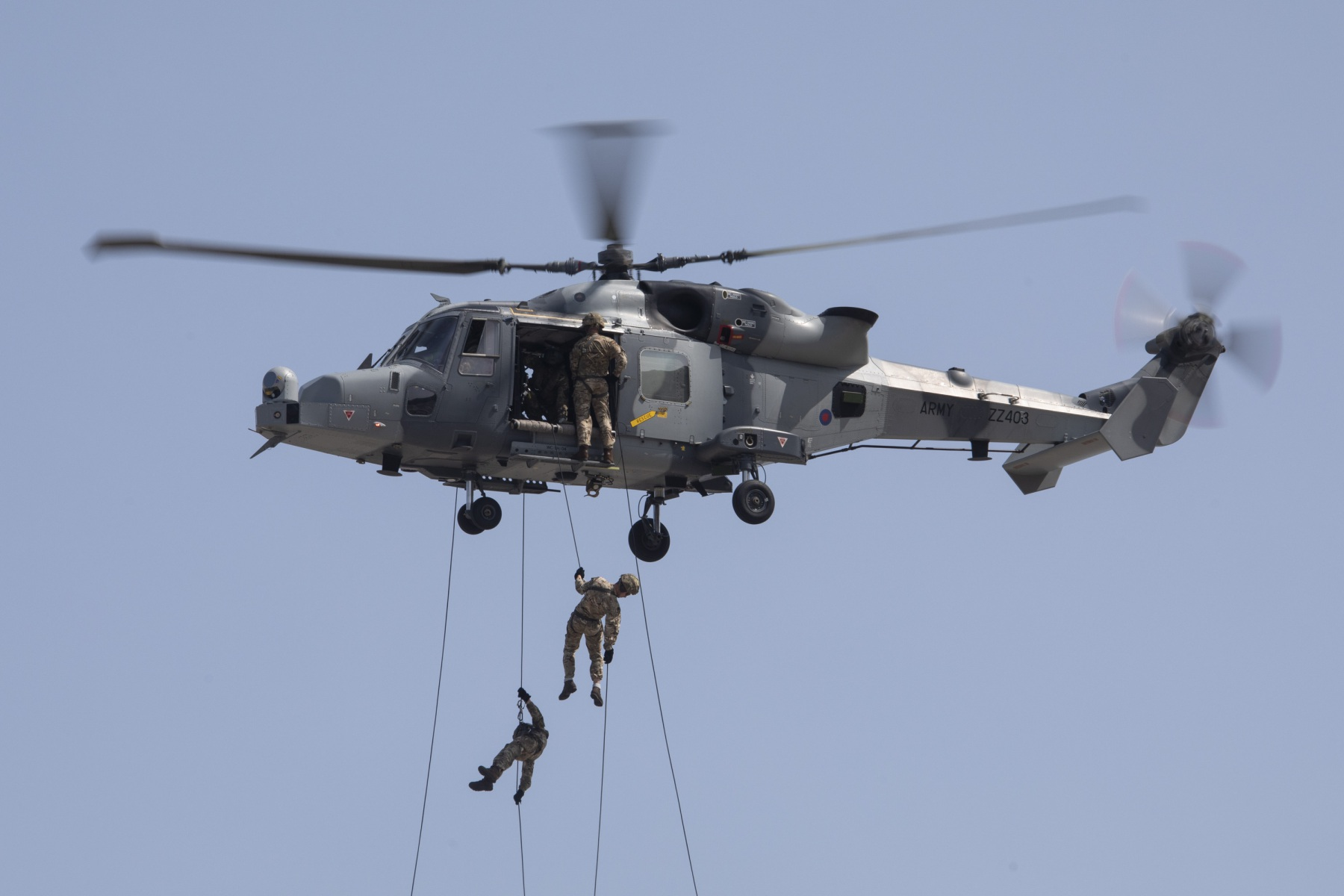 Royal Marines Abseiling at RAF Gibraltar