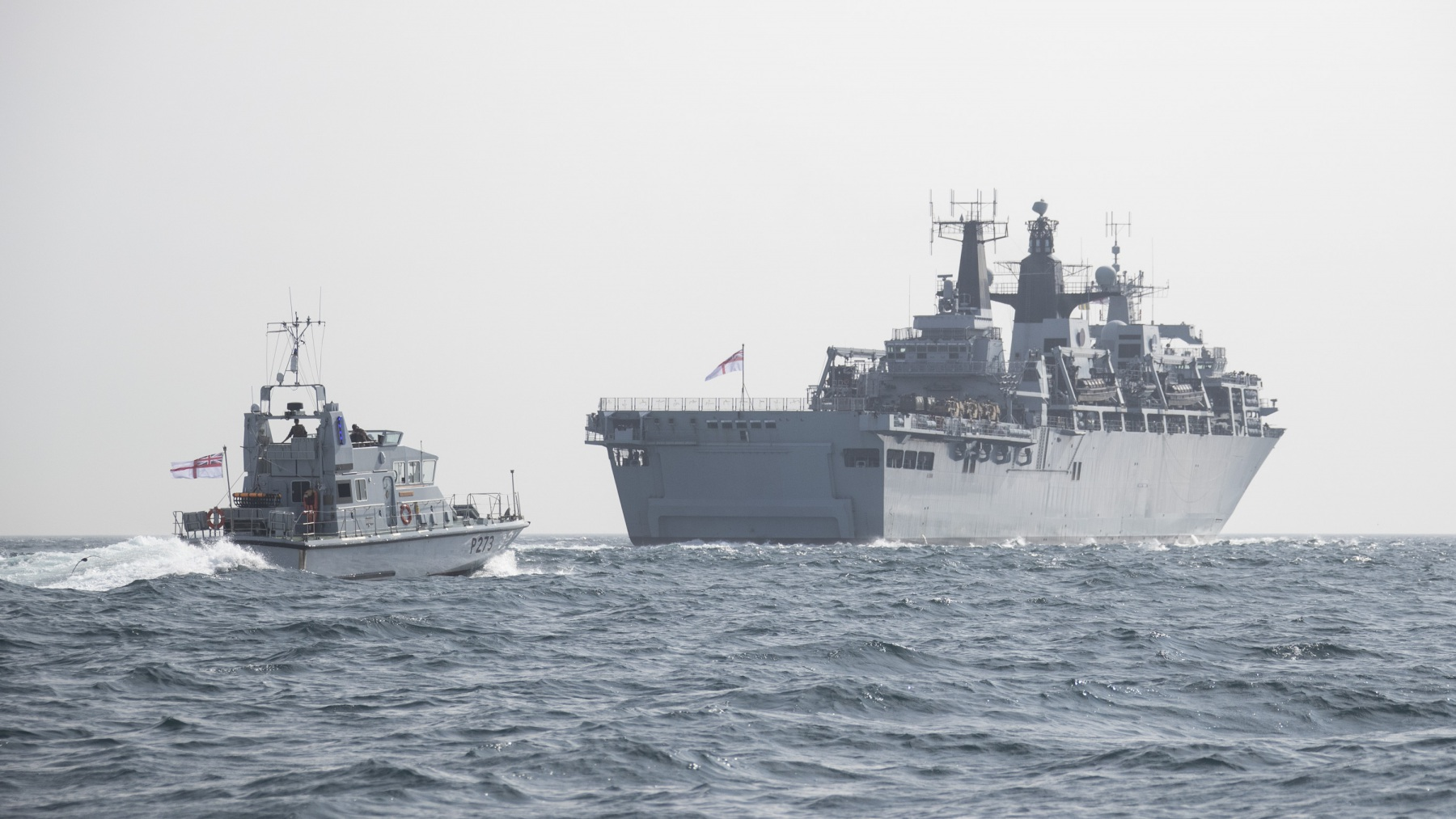 HMS Albion and RFA Lyme Bay leave Gibraltar