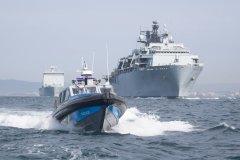 HMS-Albion-y-RFA-Lyme-Bay-Gib