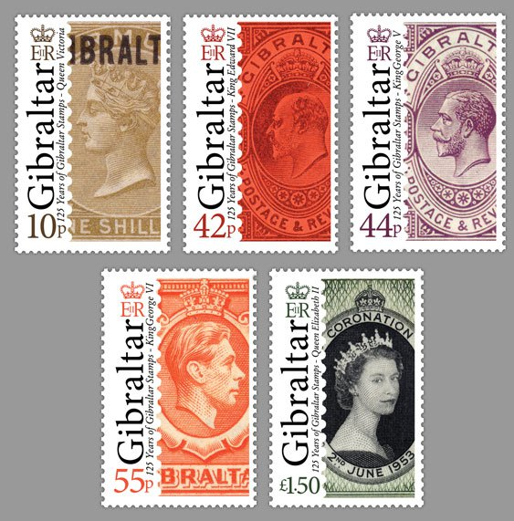 125th-Anniversary-of-Gibraltar-Stamps