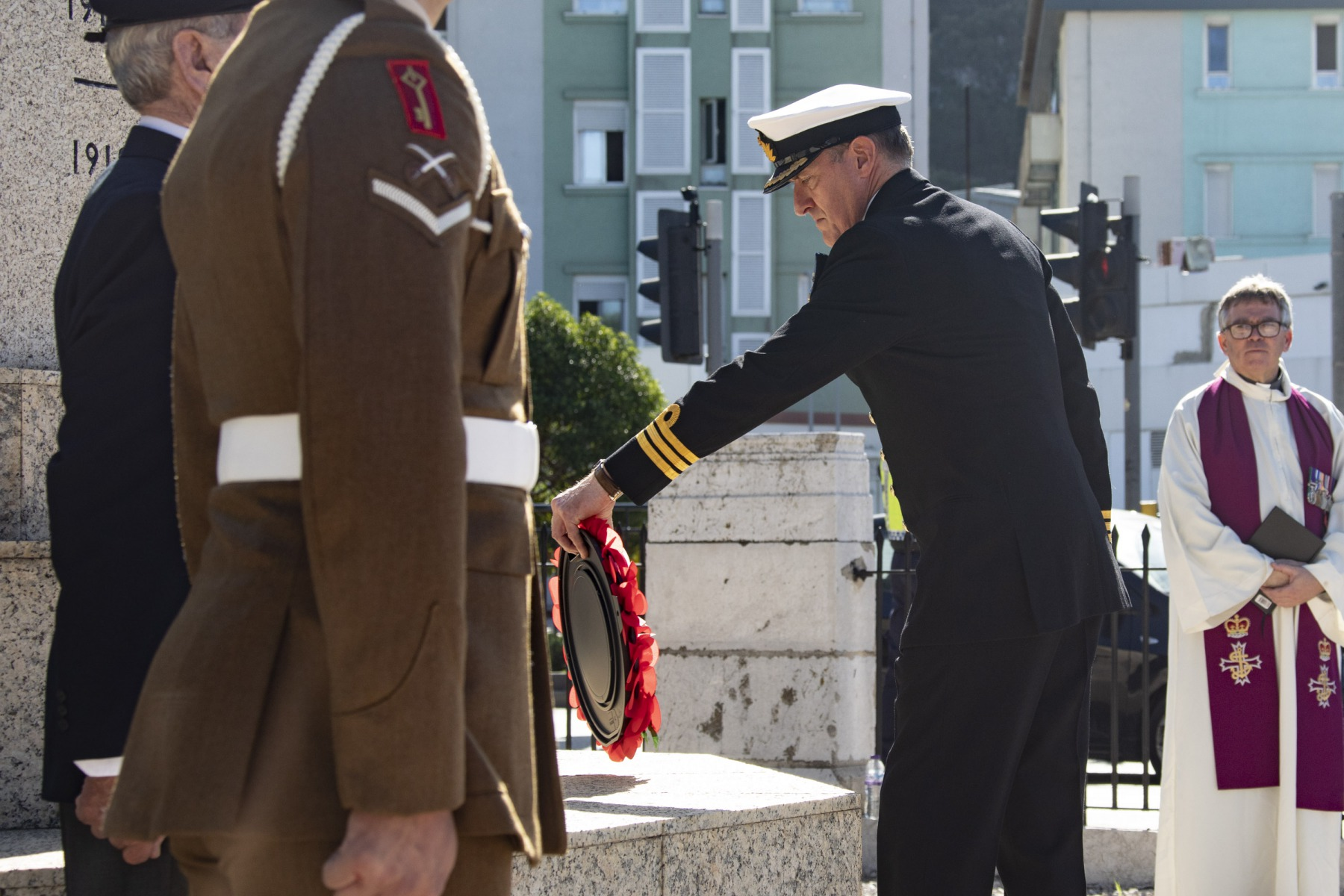 Remembrance Sunday Service at the Cross of Sacrifice, Gibraltar.