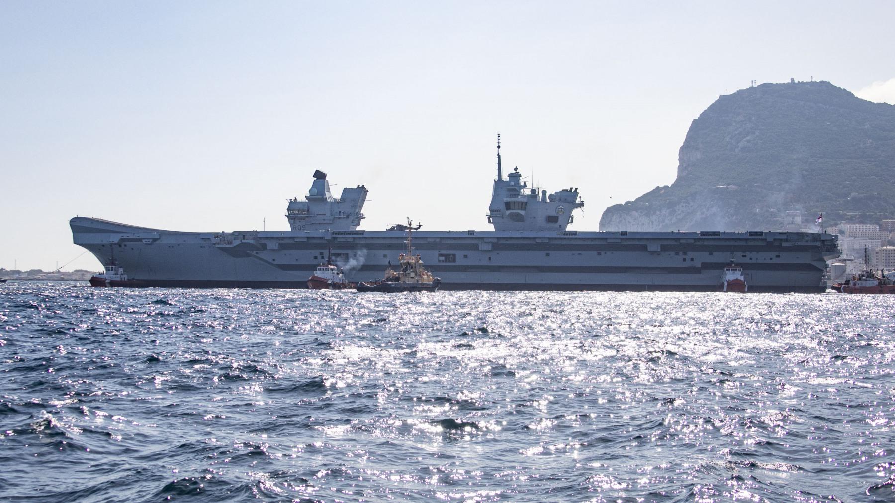 HMS Prince of Wales en Gibraltar