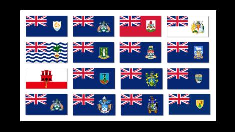 Banderas Territorios británicos de Ultramar